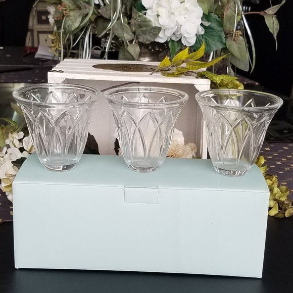 Partylite Classic Creations Faceted Votive Holders